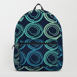 Blue Circles Abstract Pattern Backpack