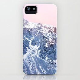 Rose Quarz and Serenity Mountains iPhone Case