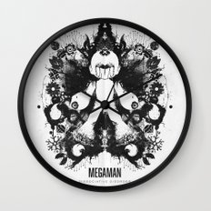 Megaman Geek Ink Blot Test Wall Clock