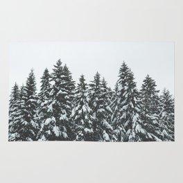 SNOWY TREETOPS Rug