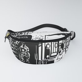 Black and white portrait Fanny Pack