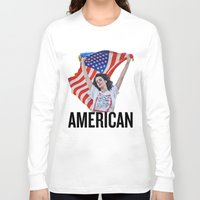 american Long Sleeve T-shirts featuring American by Brandon Gendron