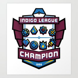 Indigo League Champion - Blue Version Art Print