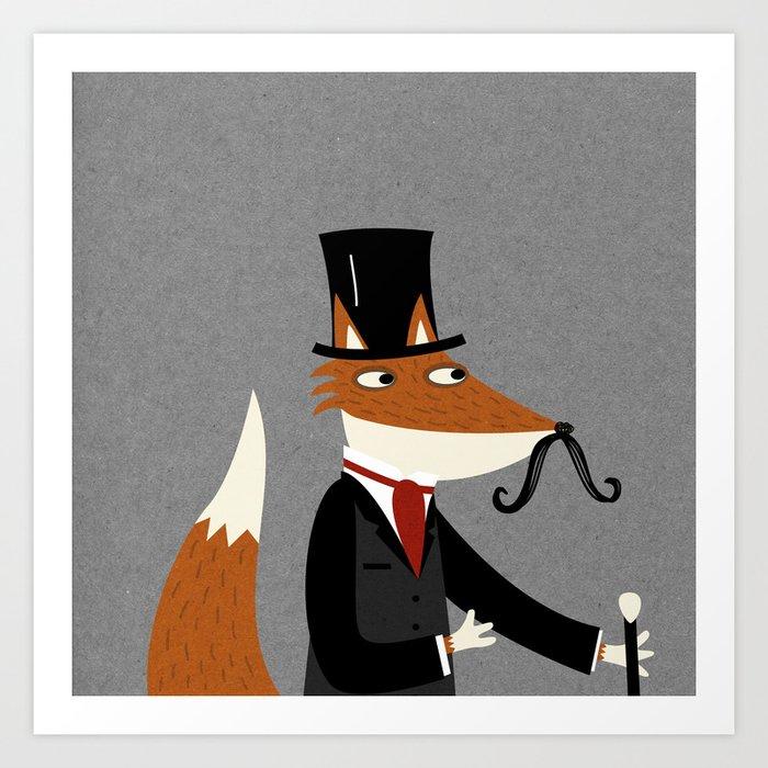 Gentleman Fox Art Print