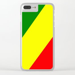 Flag of the Republic of the Congo Clear iPhone Case