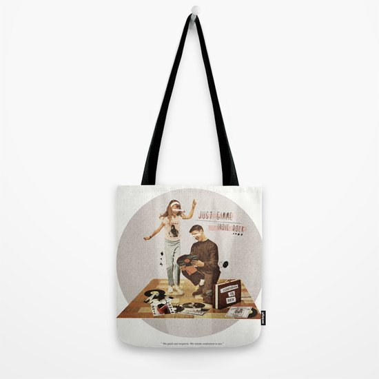 Just Gimme Indie Rock | Collage Tote Bag