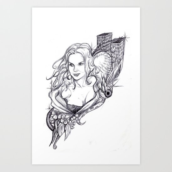 Niki Art Print