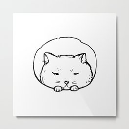 Cat. Graphics. Metal Print