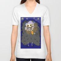 dark souls V-neck T-shirts featuring Dark Souls- Goodnight Nito by Mango Mamacita