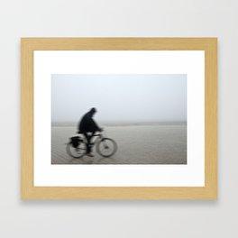 Bike in Mist Framed Art Print