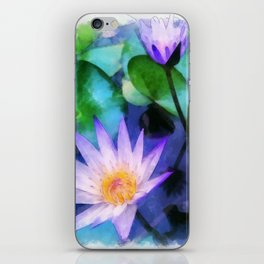 Purple Lotus iPhone Skin