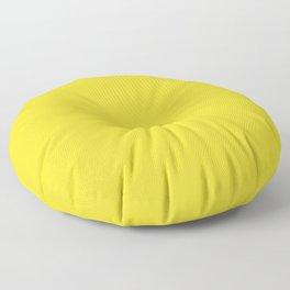 Solid Color Pantone Vibrant Yellow 13-0858 Floor Pillow