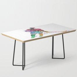 Girl Ice Hockey Sports Art Print Coffee Table