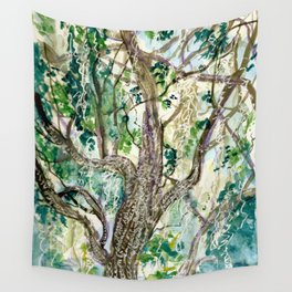 Oak Tree with Spanish Moss Wall Tapestry