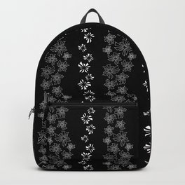Hawaiian Abstract Triangle Stripes Black and White Pattern Backpack
