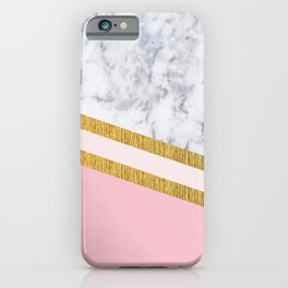 St Lucia striped blush marble iPhone Case
