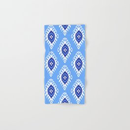 IKAT pattern 02, blue Hand & Bath Towel