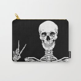 Human skeleton posing isolated over black background vector illustration Tasche