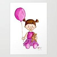 Little Girl in Purple Art Print