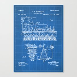 Brewing Beer Patent - Beer Art - Blueprint Canvas Print