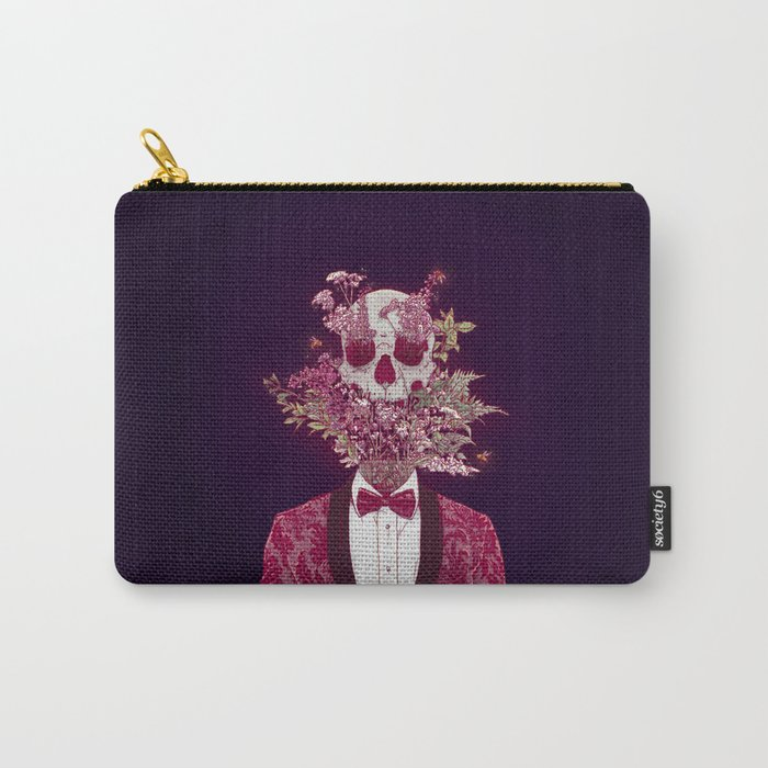 Skull Blossom Carry-All Pouch