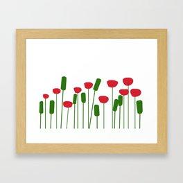 Poppies in white Framed Art Print