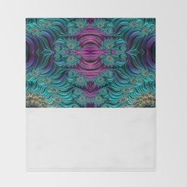 Aqua Swirl 2 Throw Blanket