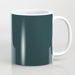 Dark Blue Green Single Solid Color Shades of The Desert Earthy Tones Coffee Mug