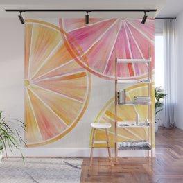 Summer Citrus Party Wall Mural