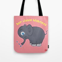 ellie goulding Tote Bags featuring Ellie by Mishell