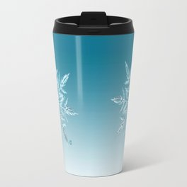 Blue Green Ice Crystal Travel Mug