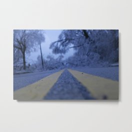ice and lines. Metal Print