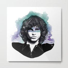 "Jim - ""The Lizard King"" Metal Print"