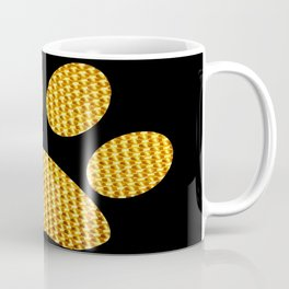 Golden Dog footprint-Black Coffee Mug