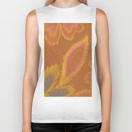 Golden Crewel Biker Tank