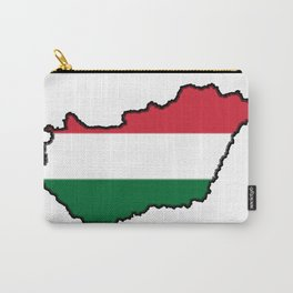 Hungary Map with Hungarian Flag Carry-All Pouch