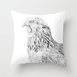 she's a beauty drawing Throw Pillow