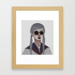 Selfish Seafish Framed Art Print