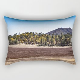 Meadow with Gold and Red Grasses Framed with Mountains by Lake Cuyamaca Rectangular Pillow
