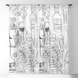 Alcohol Doodles Sheer Curtain