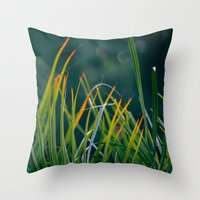 palm Throw Pillows featuring PALM by My Dear Bambi