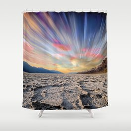 Stopping Time : Colorful Sky Landscape Shower Curtain