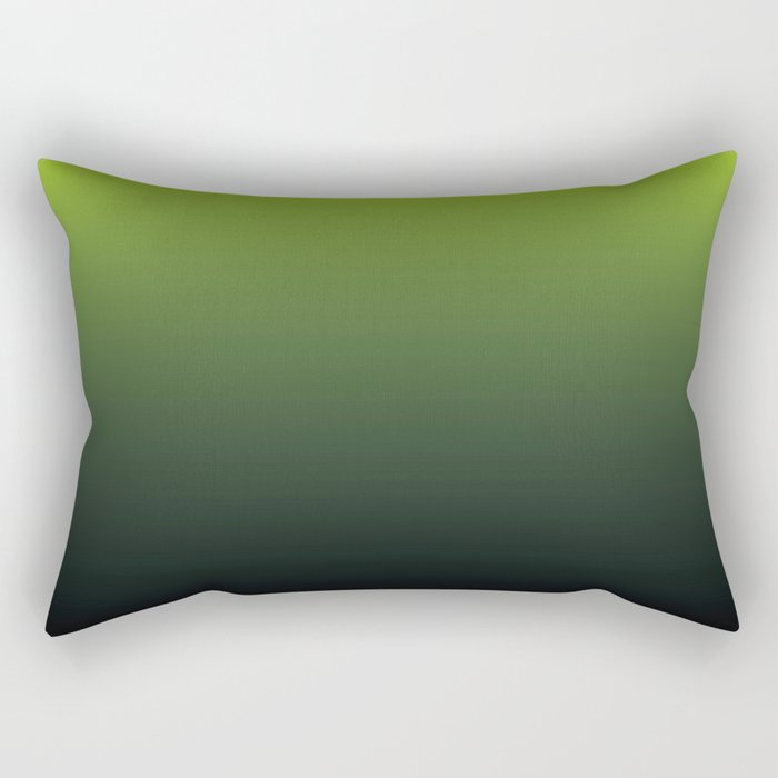 Ombre   Lime Green and Charcoal Grey Rectangular Pillow