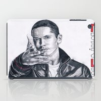 rap iPad Cases featuring Rap God! by DrewzDesignz