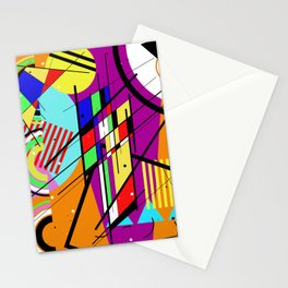 Crazy Retro 2 - Abstract, geometric, random collage Stationery Cards