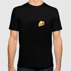 DOMMI-DOMMAGE (le fromage) Black MEDIUM Mens Fitted Tee