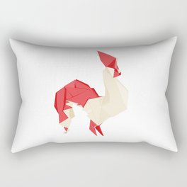 Origami Rooster Rectangular Pillow