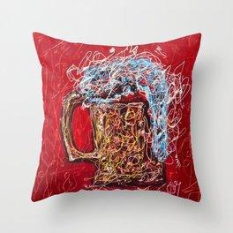 Abstract Beer - Inspired By Pollock  #society6 #wallart #buyart by Lena Owens @OLena Art Throw Pillow