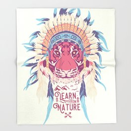 Learn from Nature Throw Blanket