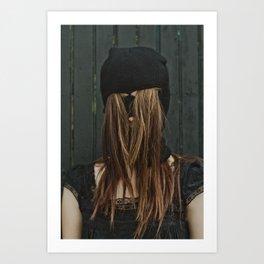 Hairy Face Art Print